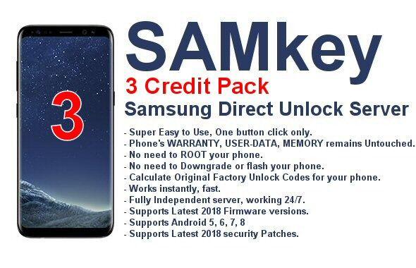 Samkey Samsung Direct Network Unlock Server (3 credits