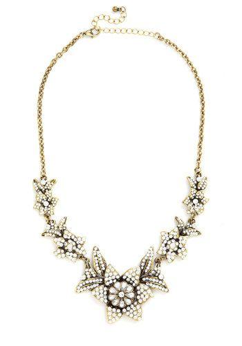 Brilliant Blooms Necklace, #ModCloth