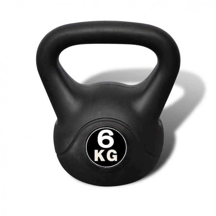 Workout Training Kettlebell Fitness Gym Home Indoors 6 Kg Weight Lifting Black  #WorkoutTrainingKettlebell