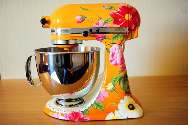 Ree Drummond / The Pioneer Woman, via Flickr Orange Floral PW Edition KitchenAid Mixer!!!