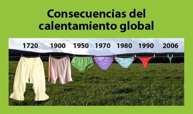 Consecuencias del calentamiento global: Hablar del calentamiento global es como intentar hacer el cuento de la buena pipa...