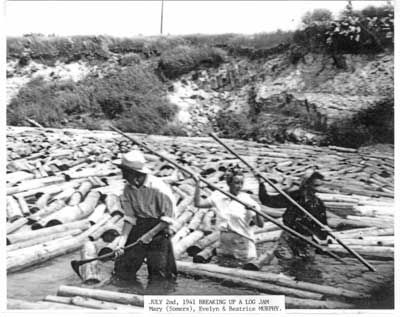 Breaking up the Log Jam, July 2nd, 1941