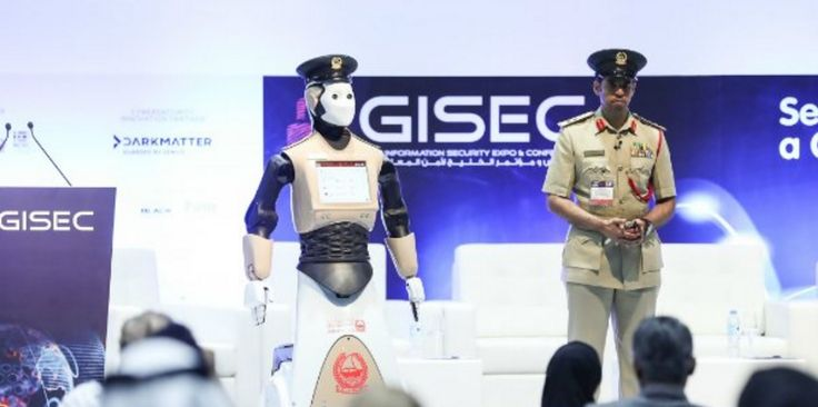 A robotic police officer is making its debut on the streets of Dubai tomorrow night — and I hope everyone there has watchedRobocop. The uniformed bot greeted visitors to the Gulf Information Security and Expo Conference. After the conference wraps on Tuesday, it will be deployed to the streets of Dubai. The robot rolls around …