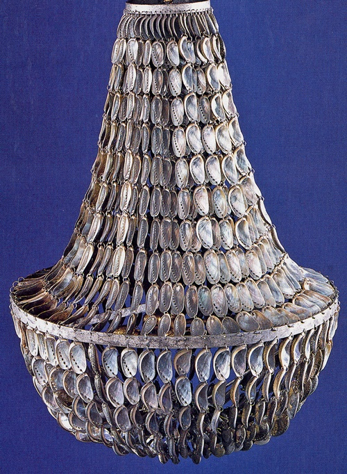 Jenny Chandelier by Oly Studio. Blue/Green Abalone shells (yes, they're real). http://villavici.com/product/13782?category_id=599