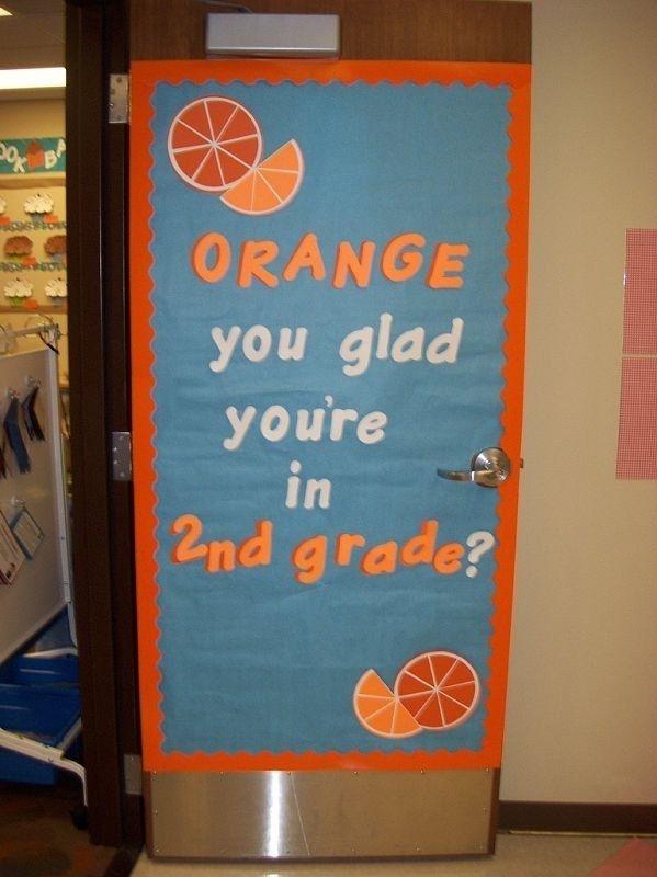 Orange Classroom Decor ~ Best images about classroom door decorations on