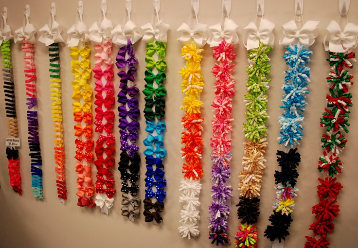 Bow Holder Display...you could use the hooks and pretty it up by putting it in a frame too