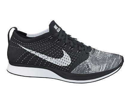 Nike Flyknit Racer - Black/White Multi