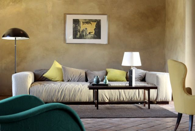 Living room hand made  100 % organic sofa . Linen, wool and cashmere