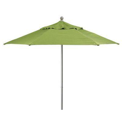 Tropitone Portofino 9' Market Umbrella Fabric: Sparkling Water, Frame Finish: Parchment