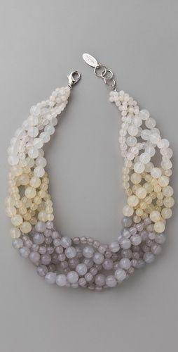 three strings small beads, three strings large ones, BRAID