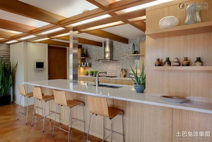 American style kitchen, laminate