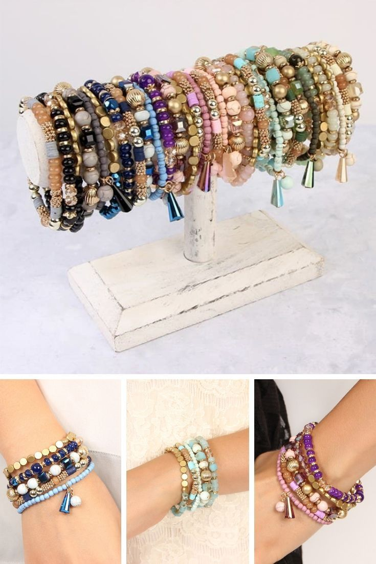 Multi Line Beaded Bracelets Beaded Bracelets Bohemian Chic Jewelry Bracelets