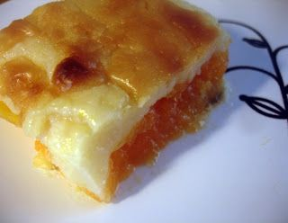 libyan food: Pumpkin and Bechamel Pudding  قرعة بالبشامل