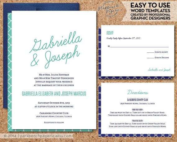 Wedding Invitation RSVP And Insert Card By ParkbenchPaperie · Invitation  SuiteInvitation DesignWedding InvitationPrint Your Own ...