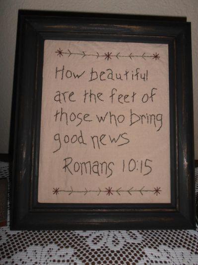 Romans 10:15 Bible Verse Primitive