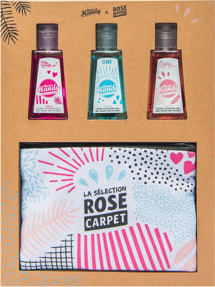 Gel mains nettoyant - Edition Limitée Rose Carpet - Merci Handy