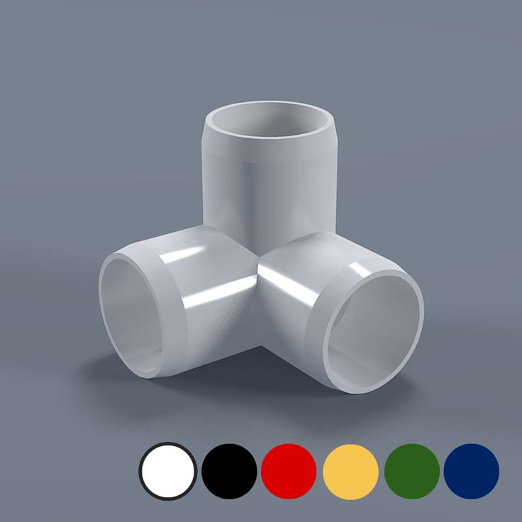 """1"""" 3-way PVC Elbow - Furniture Grade Fitting Connector 