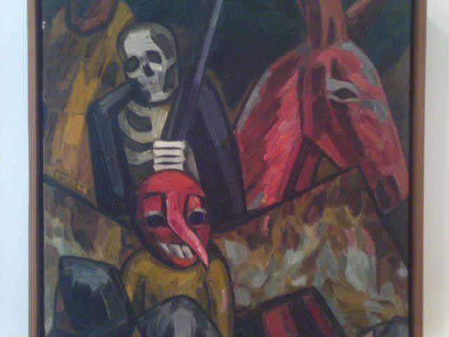 Carlos correa. Medellin  CARNAVAL óleo sobre tela.
