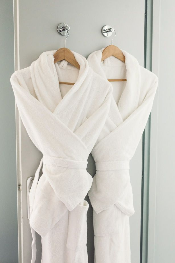 Spa robes for us, guests, in each bathroom or bedroom...