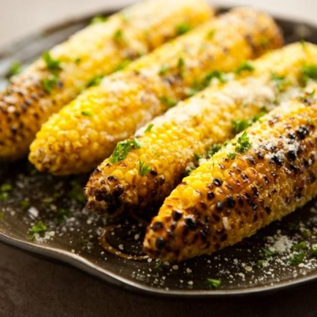 Parmesan Garlic Grilled Corn Recipe | Face Book | Pinterest