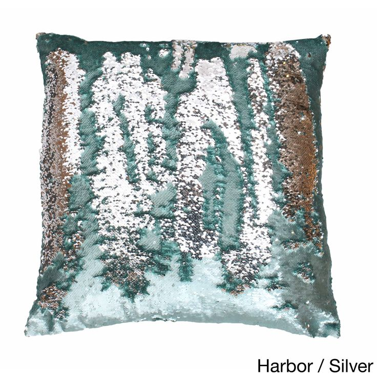Thro by Marlo Lorenz Melody Mermaid Reversible Sequin 20-inch Feather-filled Pillow (Melody Mermaid-20x20-
