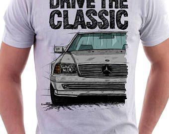 Classic  Mercedes R129 SL T-shirt White. Original hand drawn design.