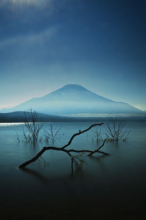 Mt. Fuji from Yamanakako. Japan