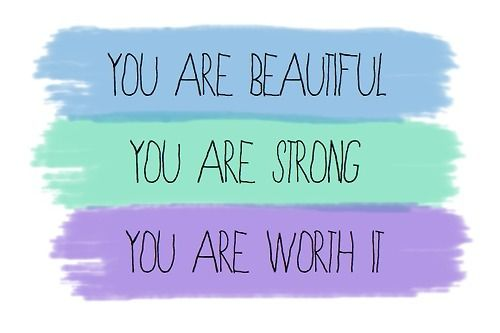You Are Beautiful, You Are Strong, You Are Worth It