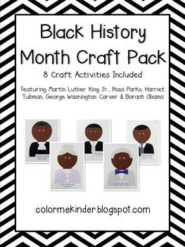 9 best images about black history on pinterest rosa for Black history month craft
