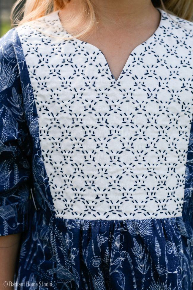 I made a Sashiko stitched Hide-and-Seek Dress. I'm sharing my process and some…