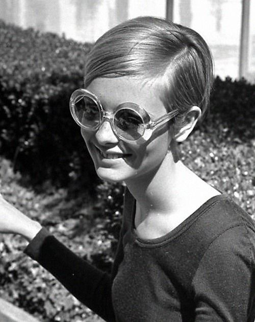 Twiggy at a party at Sonny & Cher's home in Beverly Hills, 1967.