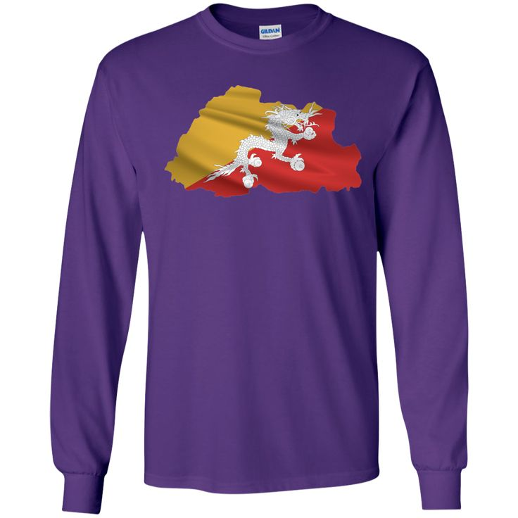 bhutan flag-01 LS Ultra Cotton Tshirt