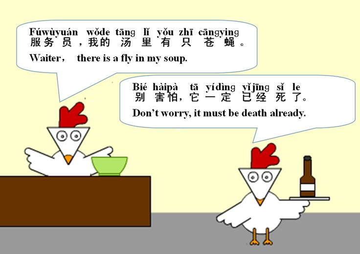Wordoor Chinese - Chinese jokes # There is a fly in my soup.