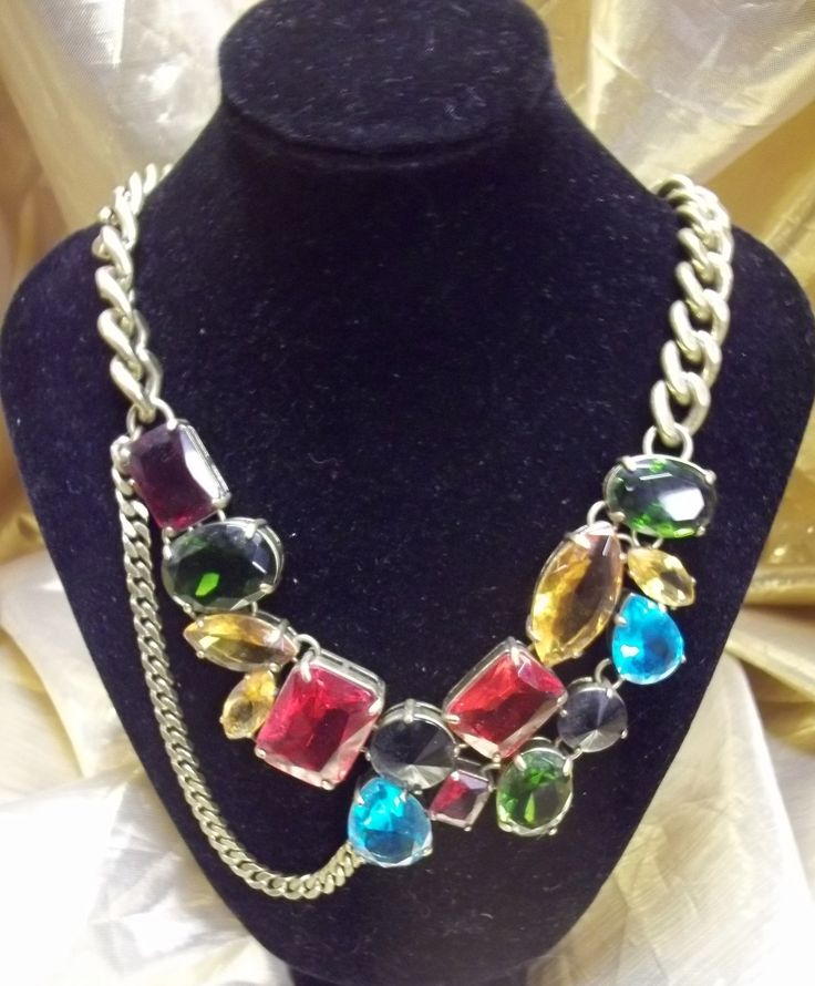multi colour style vintage glass necklace