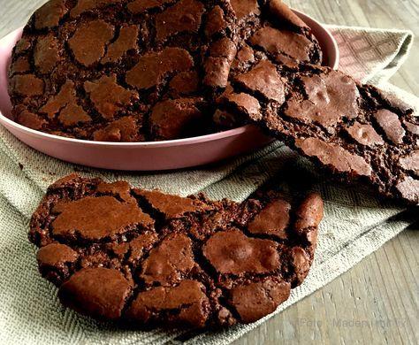 Store chokoladecookies a la brownies