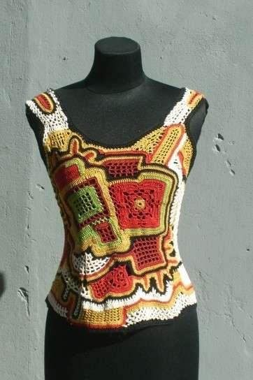 Camisetas de ganchillo: fotos diseños - Diseño de fantasía
