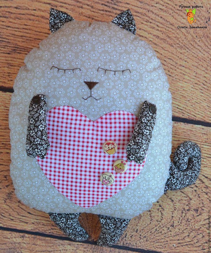 Купить Кот-сплюшка. Подушка - кот в подарок, кот подушка, подушка кот, подушка-игрушка