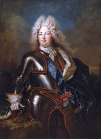 Charles, Duke of Berry (1686 - 1714). Son of Louis, Le Grand Dauphin, and Maria Anna Victoria of Bavaria. He married Marie Louise Élisabeth d'Orléans and had two children who died young.