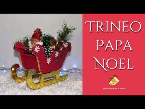 Trineo de santa claus decoración Navideña en foamy o goma eva - YouTube