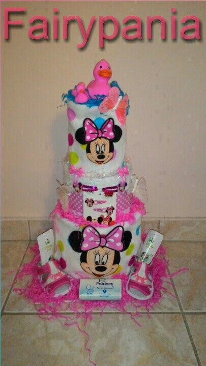 Minnie diaper cake