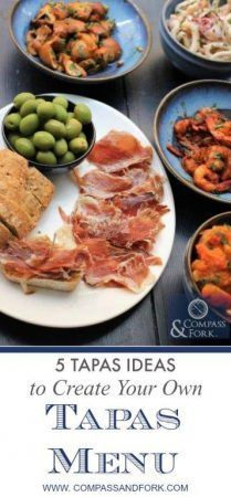 Entertaining at home? 5 Tapas Ideas to Create Your Own Tapas Menu perfect for a dinner party or drinks- easy to make a head of time too! https://www.compassandfork.com/recipe/5-tapas-ideas-to-create-your-own-tapas-menu/?utm_campaign=coschedule&utm_source=pinterest&utm_medium=Compass%20and%20Fork-%20Food%20and%20Travel&utm_content=5%20Tapas%20Ideas%20to%20Create%20Your%20Own%20Tapas%20Menu #entertaining #tapas #dinnerparty #spanishfood