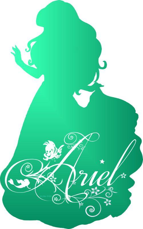 Princesses Disney images Ariel Silhouette HD fond d'écran and background photos