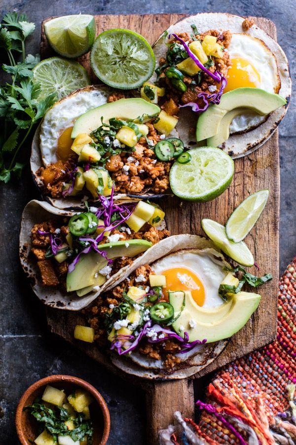 Breakfast Tacos Al Pastor | halfbakedharvest.com @hbharvest via @hbharvest
