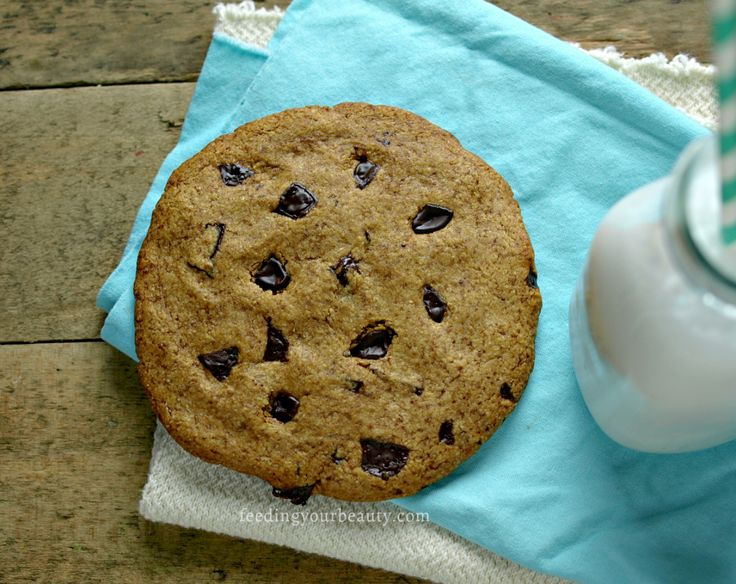 Giant Bakery Style Chocolate Chip Cookie for One - Vegan and Gluten Free