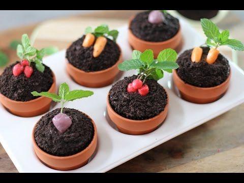 How to make cute vegetable garden cupcakes.
