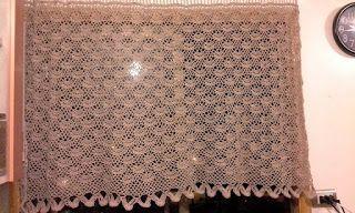 Lanas Oveja Negra: Cortina tejida a crochet