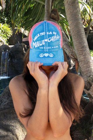 Maui Girl VIntage Trucker hats.