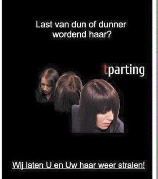 T-Parting de oplossing voor dunner wordend haar! Haircontrast Nederland