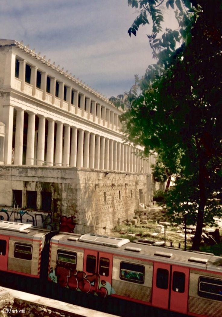 Stoa of Attalos,Monastiraki,Athens,Greece