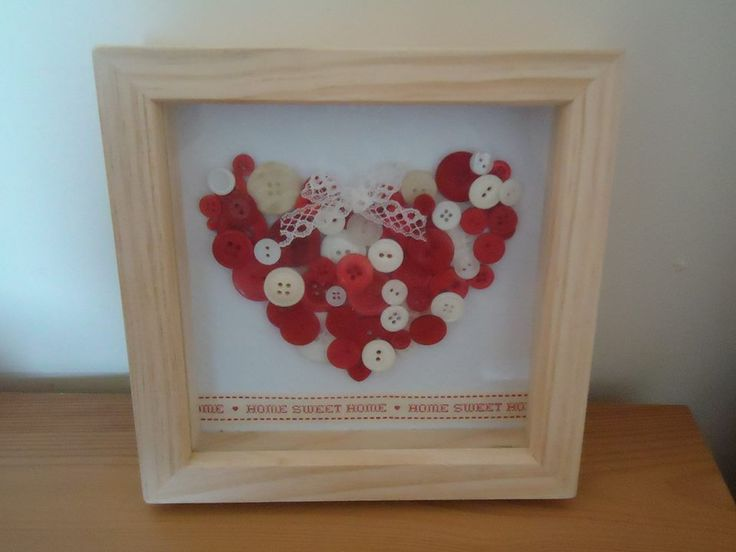 9 best handmade button box frames by just hancrafted images on home sweet home button heart box frame by just handcrafted choice of colour available sciox Image collections